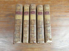 MEMOIRES MAXIMILIEN DE BETHUNE DUC DE SULLY Londres 1752 5 vol. Incomplet