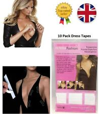 10X Ladies Dress Tapes Body Non Exposure Double Sided Invisible Fashion Bra UK