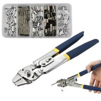 Stainless Steel Fishing Pliers Wire Rope Swager Crimpers Crimp Sleeves Combo Set