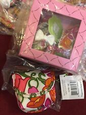 VERA BRADLEY BABY MARY JANE SHOES LILLI BELL 0-6 MONTHS & Pacifier Pod NEW