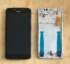 New Motorola MOTO E4 PLUS XT1770 Touch Digitizer LCD Screen Assembly Frame Black