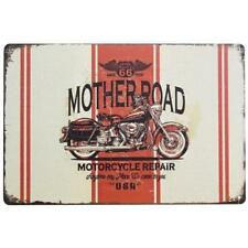 Route 66 Mother Road Metal Wall Plaque   Tin  Wall sign
