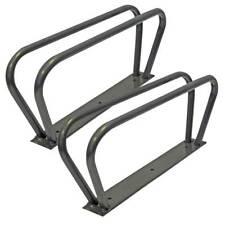 2 Cycle Bike Storage Stands Brackets Upright Wall Mounted Rack Silverline 250707