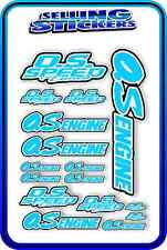 RC AIRCRAFT STICKERS HELI OS ENGINES CAR BUGGY O.S SPEED NITRO PIPE LIGHT BLUE W