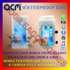 ACM-WATERPROOF BAG RAIN COVER CASE for LG OPTIMUS L3 E400 MOBILE WATER RESISTANT