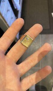 herren gold ring 750 Mit Brillant