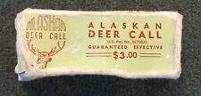 Vintage Alaskan Deer Call In Original Box w/Instructions Western Call & Decoy Co