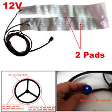 Steering Wheel Install Universal Round Switch Carbon Fiber Heated Kit 2 Pads