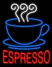 "New Espresso Coffee Cafe Open Neon Light Sign 20""x16"" Glass Decor Windows Bar"