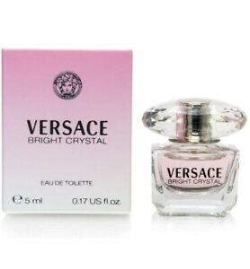 NEW Bright Crystal by Versace  0.17 oz 5 ml. EDT Spray For Women TRAVEL