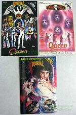 3 Queen Comics RnR 48 Hard Rock 9 Greatest Hits 1st Print Unread Archive Copies!