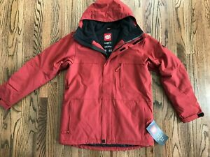 58 SIXEIGHTSIX 686 Ranger Cardinal Snowboarding Jacket Large Red Mens Medium