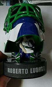 Roberto Luongo 2009 McDonald's Mini Helmet With Figure on Puck