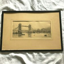 GRAVURE TOWER BRIDGE 19 EME SIECLE DEBUT DU XX EME SIECLE