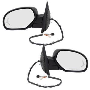 Power Folding Mirrors Set fits 2007-2014 GM Pickup SUV Heated Signal Puddle Lamp