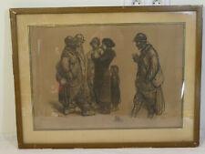 STEINLEN THEOPHILE ALEXANDRE 1859/1923 Lithographie  La Famille Soldat WW1 14-18