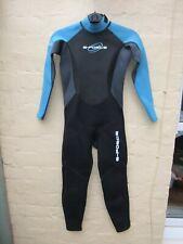 Childs black & blue wetsuit. unisex. summer weight.