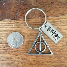 Harry Potter Deathly Hallows Pewter Key Ring keychain - New
