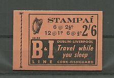 IRELAND 1953 36-53 Pristine COMPLETE BOOKLET Inverted Watermark SB9 HB7a
