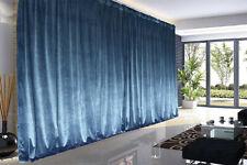 Large Thick Velvet Blockout Curtains 550x 230cm PINCH PLEAT 2 panel+Hooks Blue
