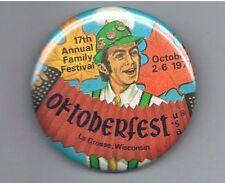 "Old 1977 Oktoberfest La Crosse Wisconsin 2.25"" Pinback Button Festival Accordion"