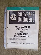 1979 Chrysler Outboard Dashboard Instruments Parts Catalog Collection Ammeter  V