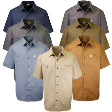 Carhartt Men's Solid Rugged Flex Rigby Relaxed Fit S/S Woven Shirt