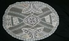 """Antique Normandy French Mixed Lace Centerpiece 11""""x 15.25"""""""