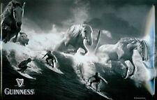 More details for guinness surfers and horses embossed steel sign  300mm x 200mm