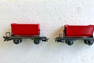 Märklin H0 4513 (362) 2 Kippwagen 2A, rot, 8,5 cm Stummelachsen s.Fotos, kippbar