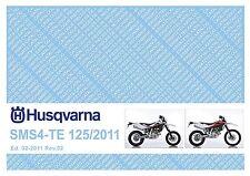 Husqvarna Parts Manual Book 2011 TE 125 & SMS4 125