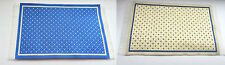 Reversible Woven Rug, One Side Blue, One Side Beige, Dolls House Miniature Mats