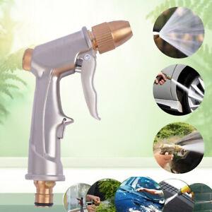 High Pressure Water Spray Gun Metal Brass Nozzle Garden Hose Pipe Lawn Car Wash