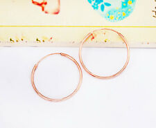 Style Hoop Earrings 1.2x25 mm. 925 Sterling Silver 24k Gold Vermeil