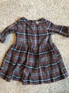 baby girl carters dress 9 months flannel fall adorable!