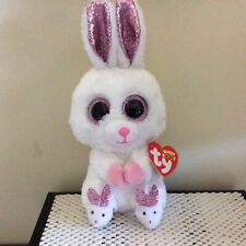"Ty Easter Beanie Boo SLIPPERS the Bunny Rabbit ~ 6""~ MWMTS"