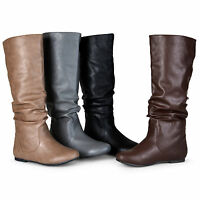 Journee Collection Womens Wide And Extra Wide Calf Mid Calf Slouchy Riding Boots