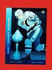 1991-92 Upper Deck AWARD WINNERS HOLOGRAM Insert # AW3 Brett Hull HART TROPHY