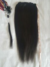 """REMY 100% Human Hair Extension 18"""" long Dark brown  1b. 6 x 3 clip wefts"""