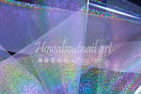 """Clear glitter dust"" transfer nail art foil - 1 meter"