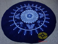 Handmade Indigo Tie Dye Rural Style Tablecloth Table Cover Tapestry ROUND φ 78""
