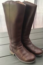 Genuine UGG Ladies Brown Leather Boots - size UK 4.5 / EU 37