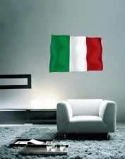 "Italy Italian Flag Wall Decal Large Vinyl Sticker 25"" x 17"""