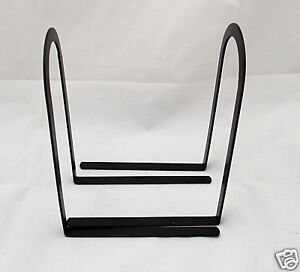 New Contemporary Mat Black Arched Simple Metal Bookends Book Ends Pair 7.5""