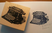 P12  Typewriter-Vintage- Rubber Stamp