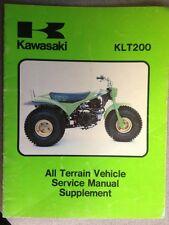 1982 Kawasaki KLT200 Atv Service Manual Supplement.