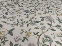 Sanderson Sissinghurst Jade/Silver Curtain Craft Fabric 1.5 Metres