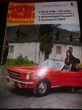 Zeitschrift magazine Auto Mobil Illustrierte Nr.1 5.Januar 1965 Ford 17 M Auto