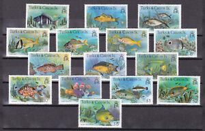 turks & caico 1978/9 Sc 360/74,fish,set MNH    s2087