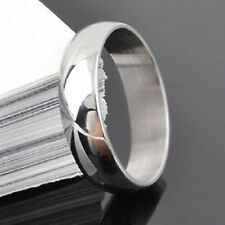 Mens Silver Stainless Steel Ring Not Tungsten Size 7